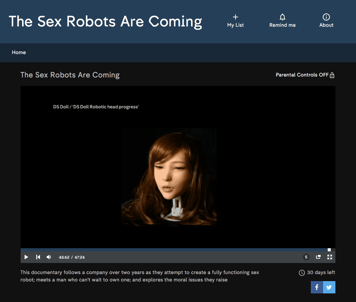 DS Doll Robotics The Sex Robots Are Coming